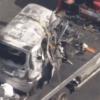 福島県広野町事故│常磐道で車両炎上、7人ケガ…黒焦げ車の映像あり
